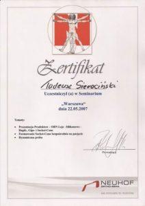 WZSO Certyfikaty i kompetencje w dziedzinie protetyki 6
