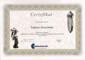 WZSO Certyfikaty i kompetencje w dziedzinie protetyki 9