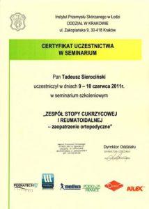 WZSO Certyfikaty i kompetencje w dziedzinie protetyki 10