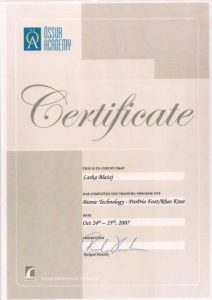 WZSO Certyfikaty i kompetencje w dziedzinie protetyki 12