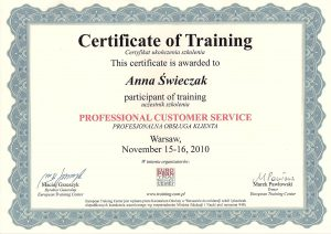WZSO Certyfikaty i kompetencje w dziedzinie protetyki 17