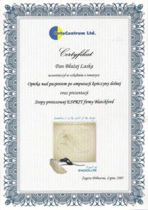 Certyfikaty i kompetencje w dziedzinie protetyki | WZSO image 18