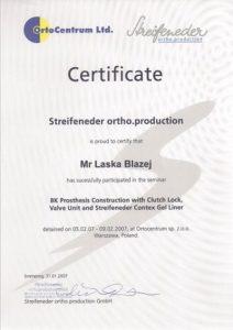 WZSO Certyfikaty i kompetencje w dziedzinie protetyki 19
