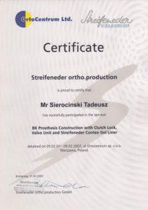 WZSO Certyfikaty i kompetencje w dziedzinie protetyki 2