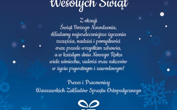 Życzenia świąteczne i informacja o pracy w Wigilię